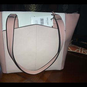 Cute baby pink and white purse